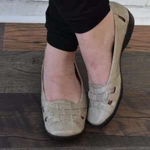 LIFE STRIDE 'Driver' Slip On Flats Taupe Size 9M